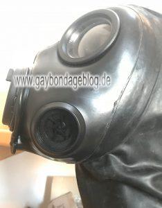 Seitenansicht S10 Gasmaske mit Einlassventil
